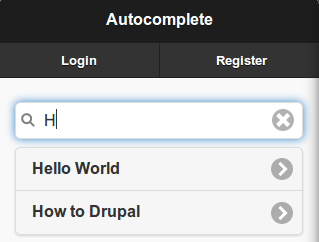 Autocomplete with Remote Data