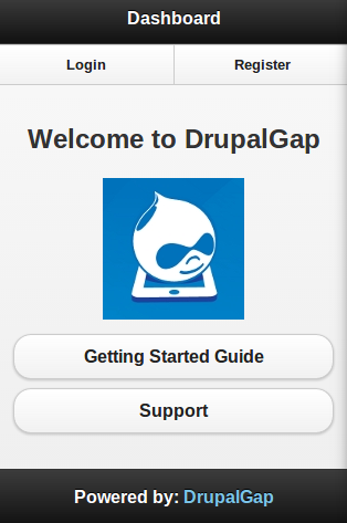 DrupalGap Dashboard