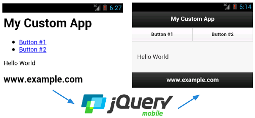 A simple jQuery Mobile app