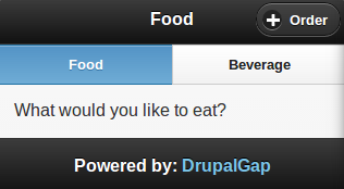 Food and Beverage Example