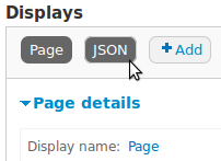 Views JSON Display Button